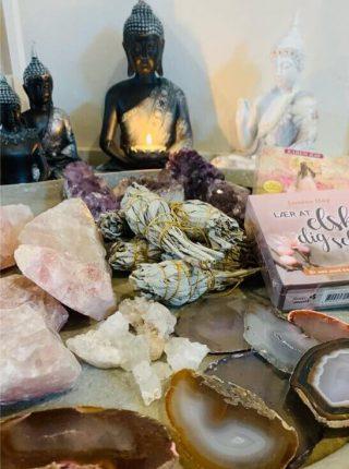 Indret med krystaller