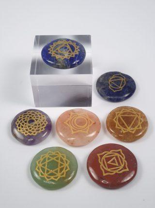 Chakrasæt med symboler