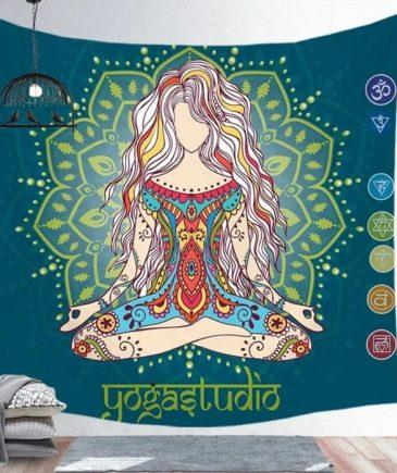 Vægtæppe med chakra yoga dame