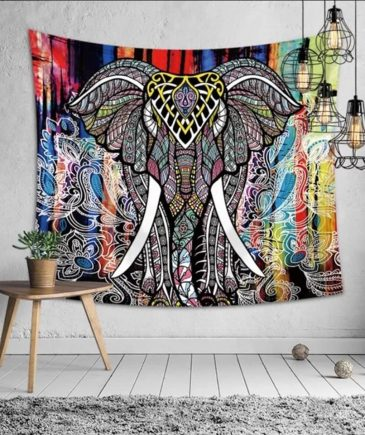 Vægtæppe med en elefant