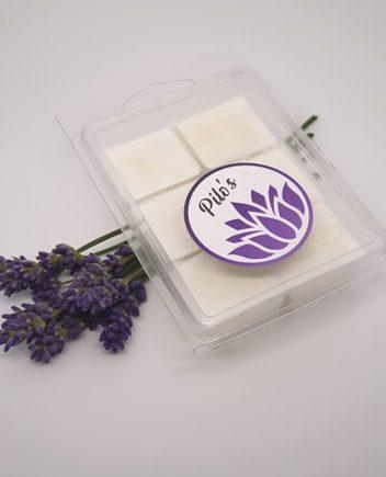 Sojavoks med lavendel