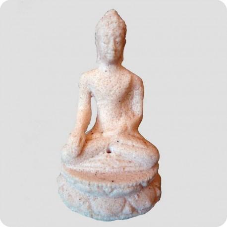 Røgelsesholder buddha i sandsten