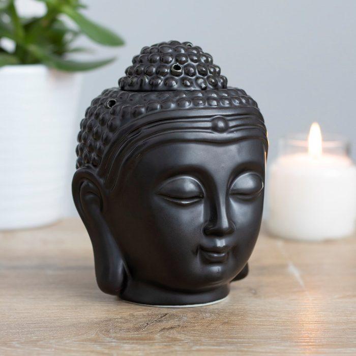 Sort Buddha duftlampe aromaterapi