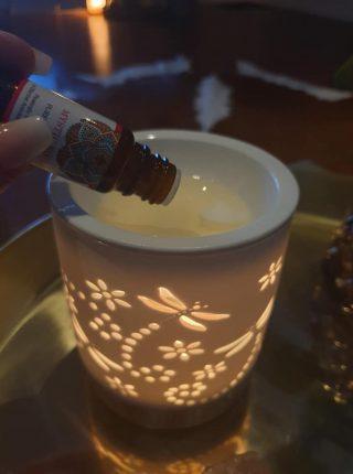 duftlampe og aromaterapi olie