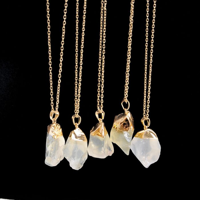Bjergkrystal i halskæde krystal smykker