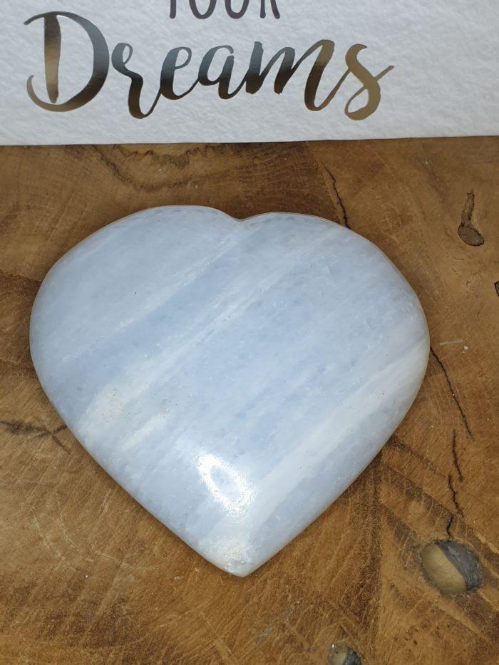 Blå calcit hjerte