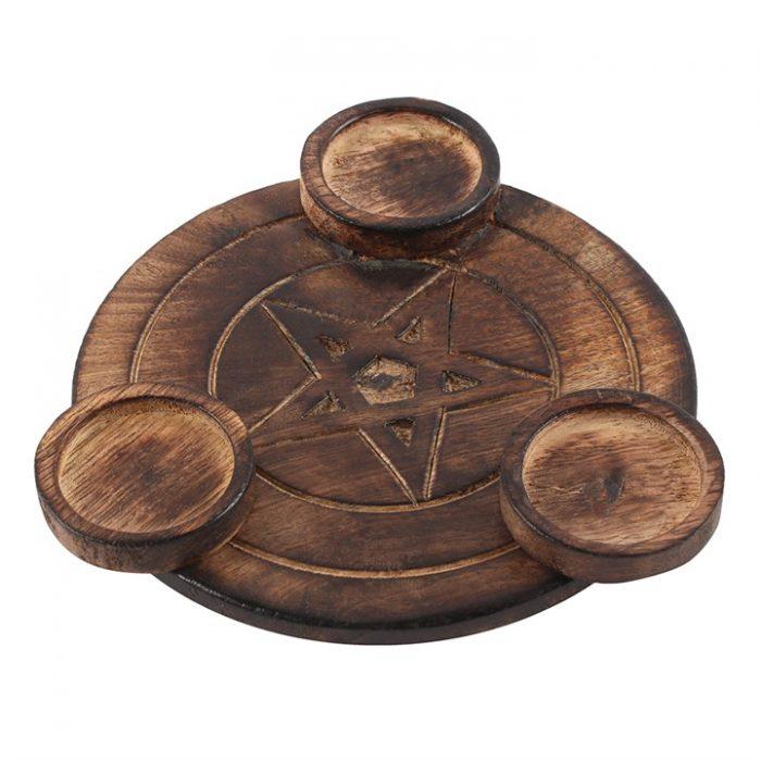 Pentagram lysholder