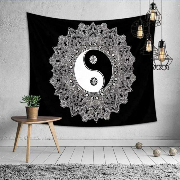 Vægtæppe med yin og yang