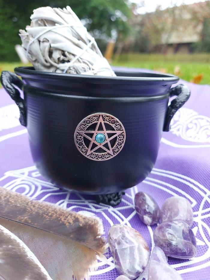 metalgryde med pentagram